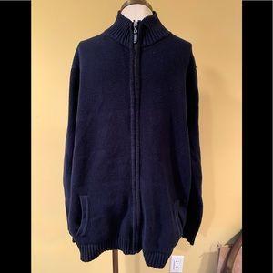 LL Bean Double L full zip sweater